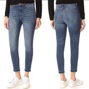 DL1961 High Waist Trimtone Skinny Jean Size 28
